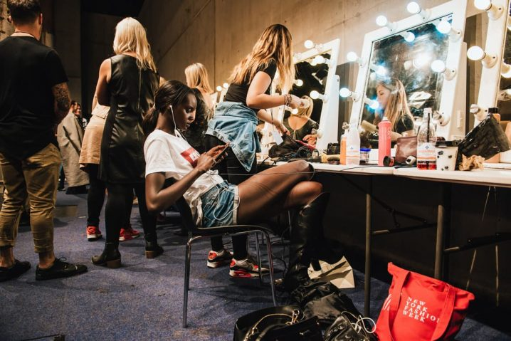 Girls Preparing for a Fashion Show